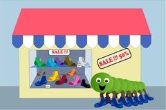 Shop shoes Stock Images