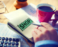 Shop Shopping Commercial Consumer Concept Royalty Free Stock Photo