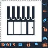 Shop, Showcase icon flat vector illustration