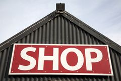 Shop Sign Stock Image