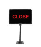 Shop sign closed on white background Stock Photos