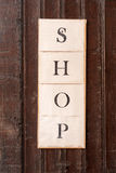 Shop sign Royalty Free Stock Images