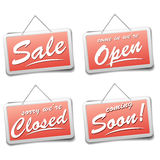 Shop signs Royalty Free Stock Photo