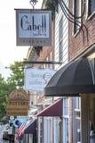 Shop Signs on Washington Street. Various shop signs on Washington Street in Lexington Virginia Royalty Free Stock Images