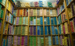 Shop of silk thread Royalty Free Stock Images