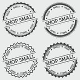Shop small insignia stamp isolated on white. Stock Image