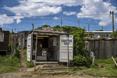 Shop in a South African township royalty free stock images