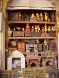 Shop of souvenirs. India. Rajasthan. Jaisalmer Royalty Free Stock Images
