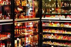 Shop of souvenirs. Big showcase of estonian souvenirs, Tallinn Stock Photo