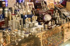 Shop of souvenirs in Jerusalem. Royalty Free Stock Photo