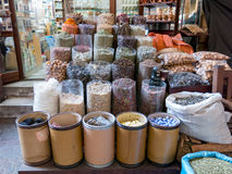 Shop in spice souk in Deira district of Dubai Royalty Free Stock Photos