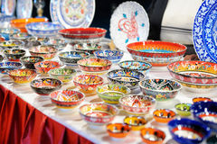 Shop stand with Turkish souvenirs Stock Photo