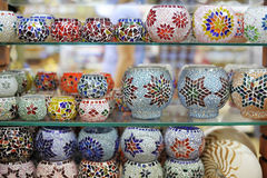 Shop stand with Turkish souvenirs Stock Photography
