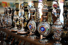 Shop stands with Turkish souvenirs Royalty Free Stock Images