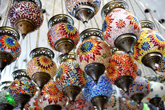 Shop stands with Turkish souvenirs Stock Photo