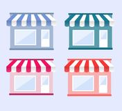 Shop/store, cafe, bakery vector illustration set 4 Stock Photo