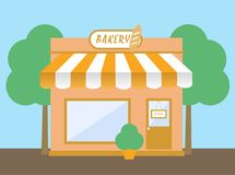 Shop/store, cafe bakery vector illustration Stock Images