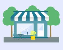Shop/store, cafe vector illustration Royalty Free Stock Photography