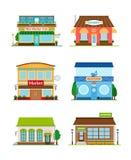 Shop store facade set Royalty Free Stock Photo