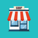 Shop Store Flat Icon Royalty Free Stock Images