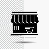 Shop, store, market, building, shopping Glyph Icon on Transparent Background. Black Icon. Vector EPS10 Abstract Template background stock illustration