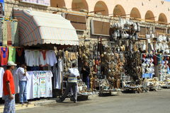 Shop street in Egypt Royalty Free Stock Photos