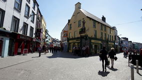 Shop Street in Galway stock video footage