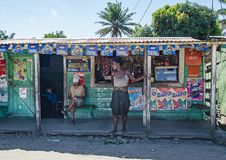 A shop in the street of Madagascar Stock Photo