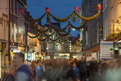 Shop street at night, Galway Royalty Free Stock Photo