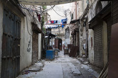 Shop street in Tripoli, Lebanon Stock Photos