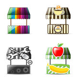 4Shop Style 001. 4 shop style icon vector eps10 Vector Illustration