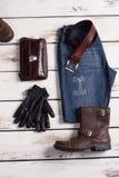 Shop of stylish wear. Men's clothing. Shop of stylish wear Royalty Free Stock Photos