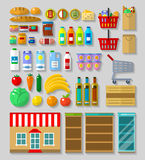 Shop, supermarket set Royalty Free Stock Photography