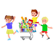 Shop, supermarket Vector flat illustrations Stock Images