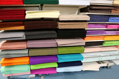 Shop for tailors and hobby full of fabrics and felts Royalty Free Stock Images