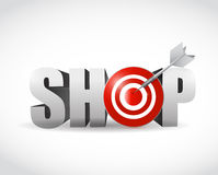Shop target symbol sign illustration design Stock Images