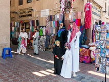 Shop in textile souk Bur Dubai in Dubai Stock Images