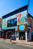Shop Therapy, Commercial Street, Provincetown, MA. Royalty Free Stock Photos