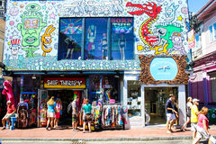 Shop Therapy, Commercial Street, Provincetown, MA. Stock Image