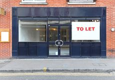 Shop to let. Vacant retail shop to let in London Royalty Free Stock Photography
