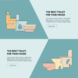 Shop toilets web banner. Toilet Seats vector icon Royalty Free Stock Photo