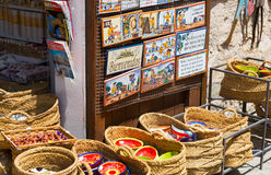 Shop with tourist gifts at old part of Besalu Stock Photos