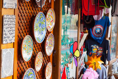 Shop with tourist souvenirs in Cordoba Royalty Free Stock Photos