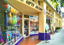 Shop in Tower District, Fresno. Olive Street in Tower District Stock Photography