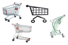 Shop trolleys Stock Image