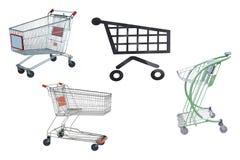 Shop trolleys Stock Image