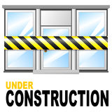 Shop under construction Royalty Free Stock Image