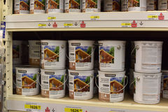 Shop with varnishes and paints for the house Royalty Free Stock Image