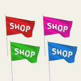 Shop - vector flags Stock Images