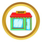 Shop vector icon Stock Image